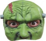Halfmasker groen monster voor Halloween