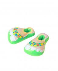 Groene opblaasbare slippers