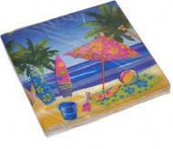 16 papieren servetten Hawaiiaanse vakantie 33 x 33 cm