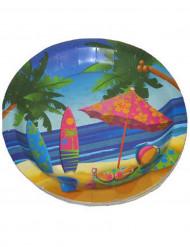 8 kartonnen bordjes Hawaii