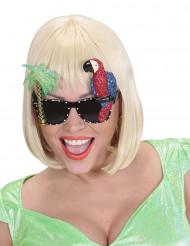 Hawaïaanse bril met papegaai voor volwassenen