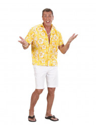 Gele hawaiiaanse overhemd voor heren