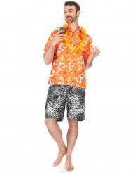 Hawaïaanse oranje blouse voor mannen