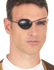 Zwart piraten ooglapje met elastiek voor volwassenen