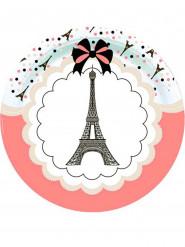 8 kartonnen Eiffeltoren borden
