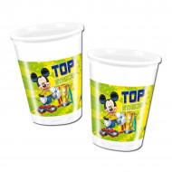 Plastic wegwerp bekertjes Mickey™ voetbal