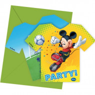 Uitnodigingen van Mickey™ voetbal