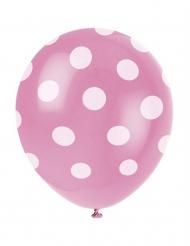 Set van roze ballonnen met witte stippen