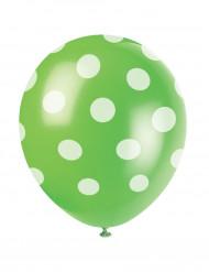 Set groene ballonnen met witte stippen