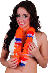 Luxe Hawaï krans in Nederlandse kleuren