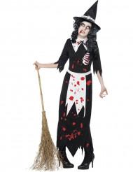 Verkleedkostuum voor dames zombie heks Halloween artikel