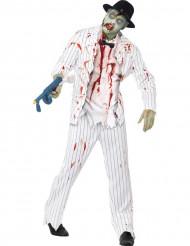 Witte gangster zombie kostuum vor heren