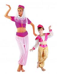 Oriëntaalse danseres koppelkostuum voor moeder en dochter