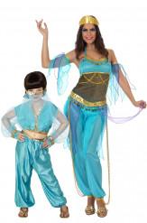 Oosterse danseres koppelkostuum voor moeder en dochter