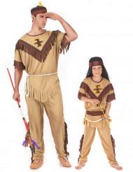 Indianen koppelkostuum voor vader en zoon
