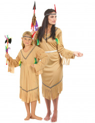 Indianen koppelkostuum voor moeder en dochter