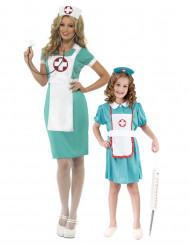 Verpleegster koppelkostuum moeder en dochter
