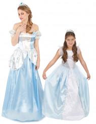 Prinsessen duo kostuums moeder en dochter