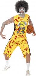 Zombie basketbal speler kostuum voor heren
