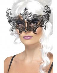Zwart vlindermasker voor volwassenen