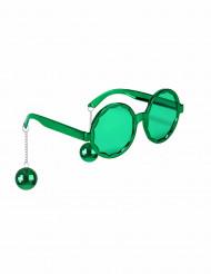 Disco bril voor volwassenen in het groen