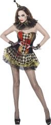 Zombie clown Halloween kostuum voor vrouwen