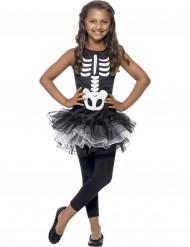 Halloween kostuum voor meisjes skelet met zwarte tutu