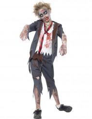 Verkleedkostuum Zombie scholier voor jongens Halloween outfit