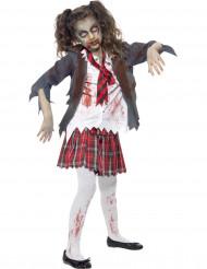 Zombie schoolmeisje Halloween kostuum voor kinderen