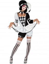 Grappig harlekijn kostuum voor vrouwen