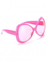 Fluo roze disco bril voor volwassenen