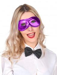 Metaal-paars masker voor volwassenen