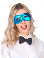 Metaal-blauw masker voor volwassenen