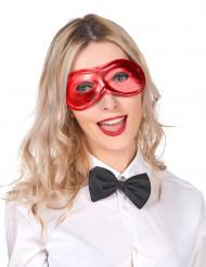 Metaal-rood masker voor volwassenen