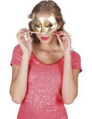 Gouden katten masker voor volwassenen
