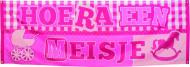 Banner welkom voor meisjes in het roze
