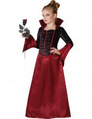 Zwart-rood vampieren kostuum voor meisjes