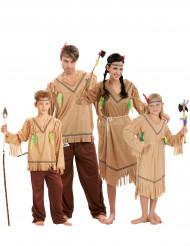 Vermomming indianen familie