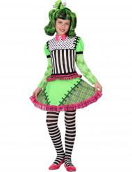Verkleedkostuum groen monster voor meisjes Halloween