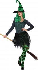 Groen spinnen Halloween kostuum van een heks