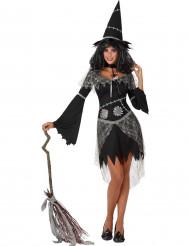 Patchwork heks kostuum voor vrouwen