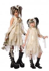 Gothic mummie koppelkostuum moeder en dochter