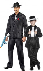 Koppel kostuum charleston gangster vader/ zoon