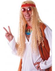 Extra lange hippie pruik voor volwassenen