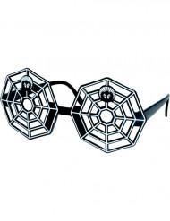 Zwarte spinnenweb bril voor volwassenen