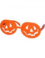 Oranje pompoenbril voor volwassenen