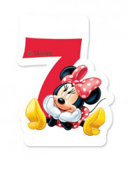 Verjaardagskaars Minnie™ 7 jaar