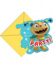 Set Henry Hugglemonster™ uitnodigingen en enveloppen