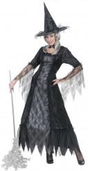 Verkleedkostuum heks met spinnenweb dames Halloween outfit