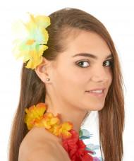 Gele hawaiiaanse haarspeld voor volwassenen